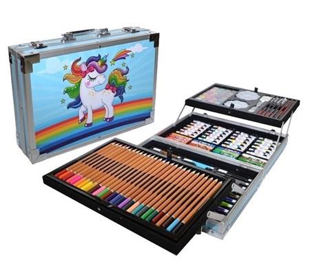 Набор для рисования в металлическом кейсе 144 предмета - фото 15005