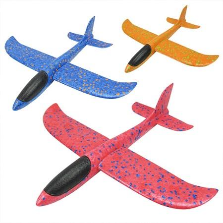 Самолёт планёр пенопластовый большой , цвет в ассортименте - фото 15110