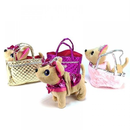 Собачка Чичилав на поводке в сумке - фото 15313
