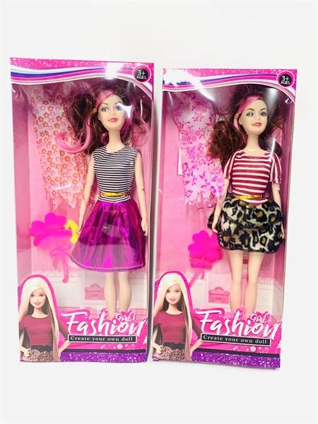 Кукла Барби Fashion Girl с платьем, в ассортименте - фото 15355