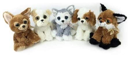 Мягкая игрушка собака с большими глазами - фото 15431