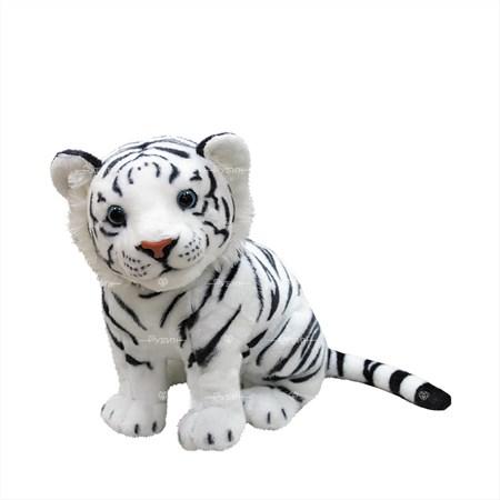 Мягкая игрушка белый тигренок - фото 15486
