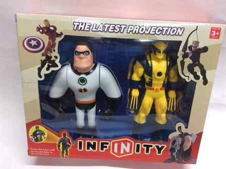 Супер герои 2 шт., в ассортименте, свет проектор - фото 9250