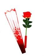 Тканевая роза, свет