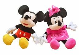 Мягкая игрушка Микки Маус и Минни Маус в ассортименте