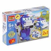 Конструктор лего Робокар Поли 2 в 1 90 деталей