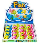 Заводная игрушка Рыбка, в ассортименте в упаковке 16 шт.