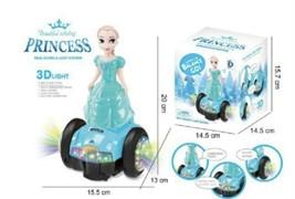 Музыкальная кукла Принцесса Эльза на гироскутере, свет + звук