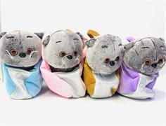 Мягкая игрушка Кошка в сумке, цвет в ассортименте