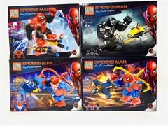 Конструктор лего Человек паук среднее (в упаковке 8 шт.)
