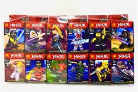 Конструктор Лего Ниндзяго герой с оружием ( в упаковке 12 шт)