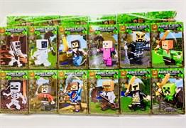 Конструктор Лего Майнкрафт герой с оружием ( в упаковке 12 шт)