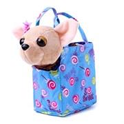 Собачка Чичилав в сумочке, гавкает при нажатии