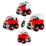 Машина конструктор Пожарная техника (в упаковке 6 шт)