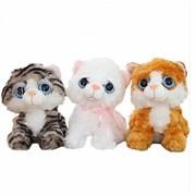 Мягкая игрушка кошка с большими глазами