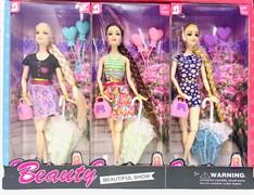 Кукла Fashion beauty с зонтиком (в упаковке 6 шт)