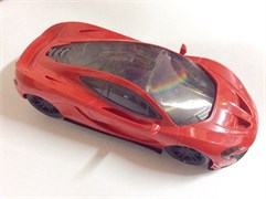 Машина 3D, красная
