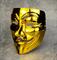 Маска Анонимуса, золотая - фото 15393